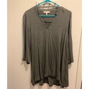 Anthropologie gray blouse